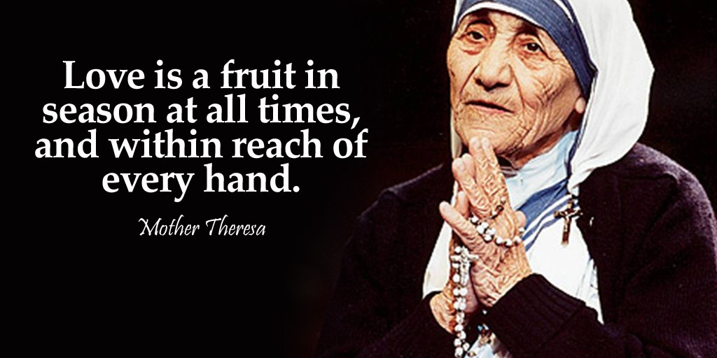 Love is a fruit in season at all times and within reach of every hand.